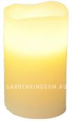 Свеча, 12,5 см, таймер, бежевый воск