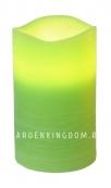 Свеча, 12,5 см, таймер, зеленый воск