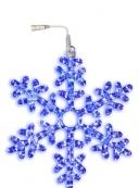 Подвес Снежинка SNOWFLAKE, 50 см, голубой
