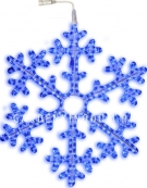 Подвес Снежинка SNOWFLAKE, 100 см, голубой