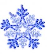 Подвес Снежинка SNOWFLAKE мигающая, 50 см, белый, синий