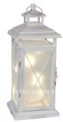 Светильник фонарь STALLIS с гирляндой, 30 см, белый