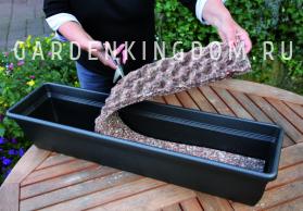 Подложка для балконного ящика влагоудерживающая, полиэстирол, 100см х 12,5см х 3,5см