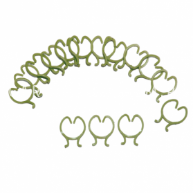 Кольца для подвязки растений, пластик, 3,3 см х 2,6 см, 15 шт