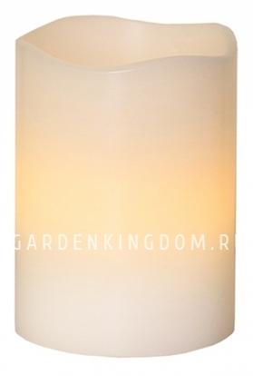 Свеча, 10 см, таймер, белый воск