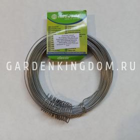 Проволока обвязочная для растений, оцинкованная, диаметр 1,2 мм, длина 26 м