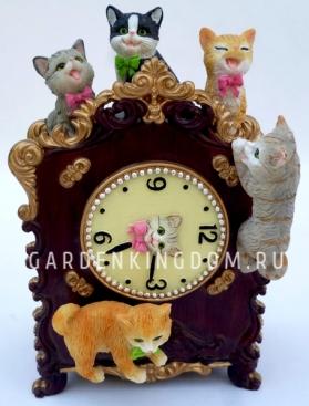 """Музыкальная шкатулка """"Часы с котятами"""""""