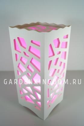 Светильник интерьерный МОЗАЙКА, 23 см, розовый