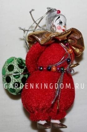 Клоун подвесной малый в красном костюме