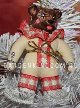 """Кукла подвесная """"Медвежонок на коньках"""""""