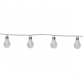 Гирлянда садовых светильников GLOW Solar energy, 3,9 м, прозрачный