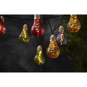 Гирлянда садовых светильников GLOW Solar energy, 3,9 м, разноцветный
