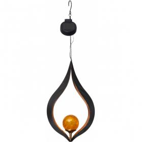 Садовый светильник MELILLA Solar energy, 31 см, янтарный