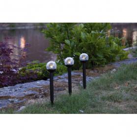 Садовый светильник ROMA Solar energy, 3 штуки, 23 см, черный, теплый белый