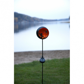 Садовый светильник на солнечных батареях FAIRYTALE, диаметр 16 см,  высота 76 см, янтарный