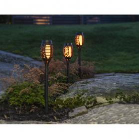 Садовый светильник на солнечных батареях FLAME MINI, с эффектом живого пламени,3 штуки, высота 40 см