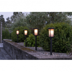 Садовый светильник на солнечных батареях FLAME, с эффектом живого пламени, высота 53 см