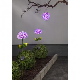 Садовый светильник на солнечных батареях  HORTENSIA Solar energy, диаметр 16 см, розовый
