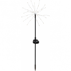 Садовый светильник на солнечных батареях FIREWORK, 2 штуки,диаметр 25 см, высота 60 см, теплый белый