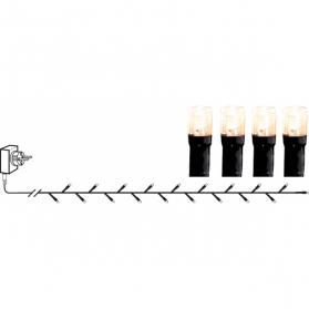 Гирлянда для улицы, 80 ламп, 5,6 м, цвет-хрустящий белый лед, черный провод, серия SERIE LED