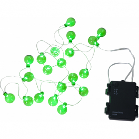 Гирлянда для улицы на батарейках OUTDOOR GLOBE LIGHT, длина 1,6 м, зеленый