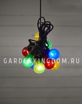 Гирлянда для улицы CIRCUS, 10 ламп, 9,5 м, разноцветный прозрачный