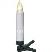 Комплект свечей на прищепках с пультом, 10 см, 10 шт., пластик
