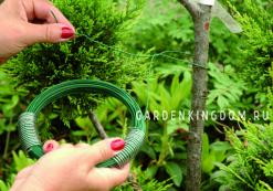 Проволока обвязочная для растений, зеленое покрытие, длина 10 м, диаметр 1,4 мм