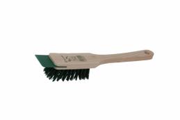 Щетка для газонокосилки  ручная со скребком, дерево, пластик, 31 см