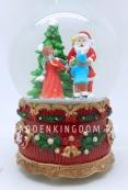 """Снежный шар музыкальный """"Санта вручает подарки"""",  диаметр 10 см."""