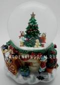 """Снежный шар музыкальный """"Дети вокруг ёлки"""", диаметр 10 см."""