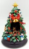 """Музыкальная шкатулка """"Новогодняя Ёлка"""" диаметром 15 см."""