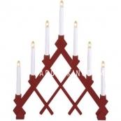 Горка рождественская RUT, 7 свечей, 53 см, красный