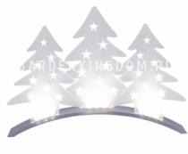 Горка рождественская PLEXI TREES,  33 см, белый