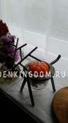 Свеча тыква, 4 см, 2 шт, оранжевый воск