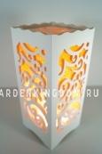 Светильник интерьерный АЖУР, 23 см, оранжевый