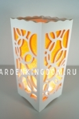 Светильник интерьерный КОЛЬЦА, 23 см, оранжевый