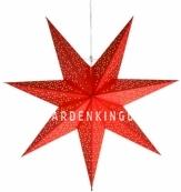 Звезда-подвес DOT STAR, 54 см, красный