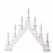 Горка рождественская MAJA, 7 свечей, 45 см, белая