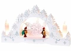 Светильник рождественский BOW-2, 22 см, белый