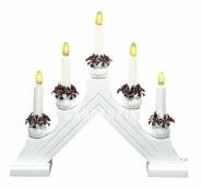Горка рождественская KARIN-5, 5 свечей, 28 см, белая