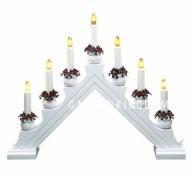Горка рождественская KARIN-7, 7 свечей, 35 см, белая