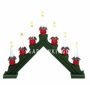 Горка рождественская KARIN-7, 7 свечей, 35 см, зеленый