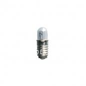 Лампочка 12 V (Вольта), 0,6 W (Ватта),  патрон Е5, удлиненная колба,5 шт.