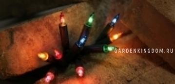 Гирлянда 20 ламп, разноцветная