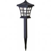 Садовый светильник на солнечных батареях NIPPON 2 штуки, диаметр 11 см, высота 33 см, черный