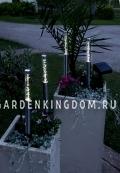 Гирлянда садовых светильников в виде палочек Solar energy, 4 штуки