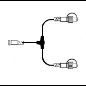 Соединение-разветвитель Т-образное, 20 см, черный, серия SYSTEM LED