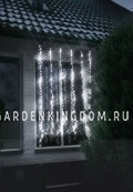 """Гирлянда-занавес, 1,8х1,6 м, холодный белый, с эффектом """"водопада"""", серия WATERFALL"""