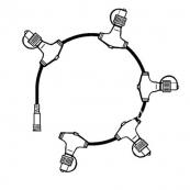 Разветвитель- кольцо на 5 разъемов, черный, серия SYSTEM 24